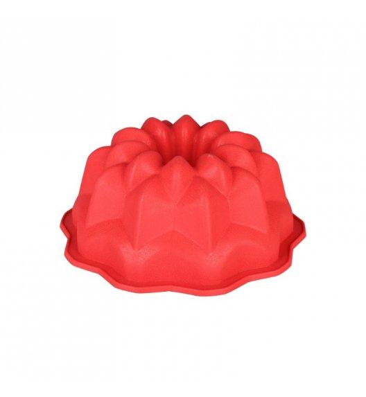 TADAR Forma silikonowa na babkę ROZETA czerwona