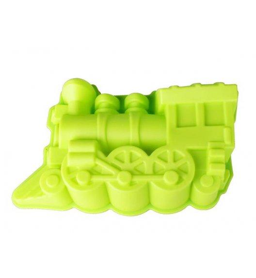 TADAR Forma silikonowa na ciasto POCIĄG zielona