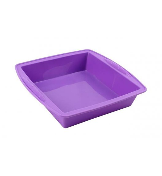TADAR Kwadratowa forma do pieczenia ciast / silikonowa, fioletowa
