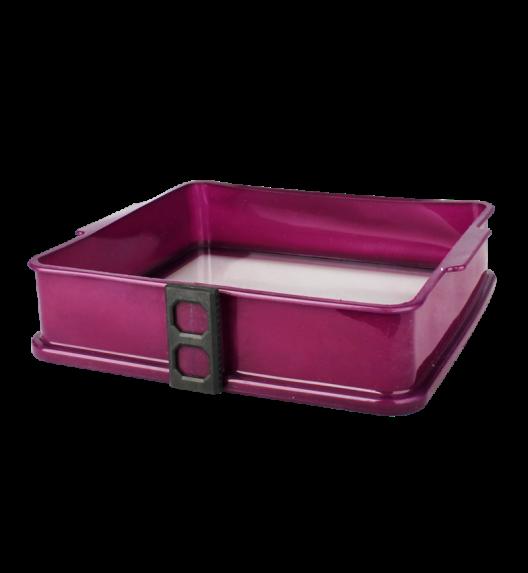TADAR Silikonowa forma ze szklanym dnem KWADRAT 25 cm, fioletowa
