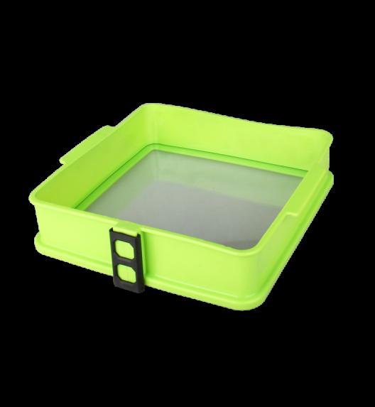 TADAR Silikonowa forma ze szklanym dnem KWADRAT 25 cm, zielona
