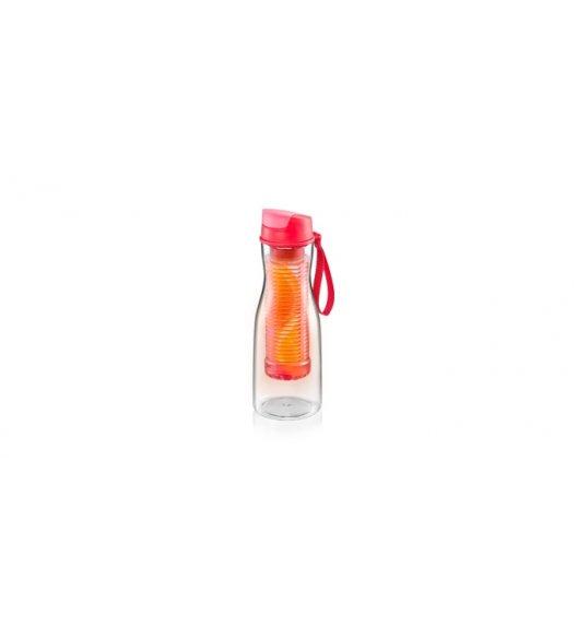 TESCOMA PURITY Butelka na napoje z sitkiem 700 ml / czerwona VIDEO