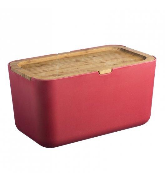 TYPHOON Chlebak z włókna bambusowego z deską do krojenia NUBU, czerwony / Btrzy