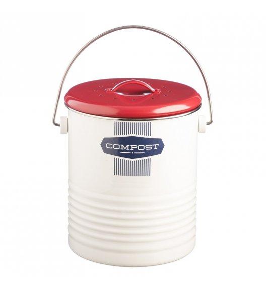 TYPHOON Kompostownik z filtrem neutralizującym zapach 3 l BELMONT, czerwono -biały / Btrzy