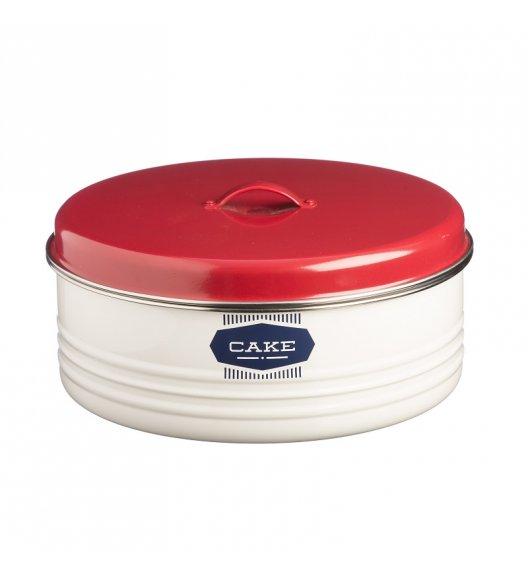 TYPHOON Stalowy pojemnik na ciasto 4,3 l BELMONT, biało-czerwony / Btrzy