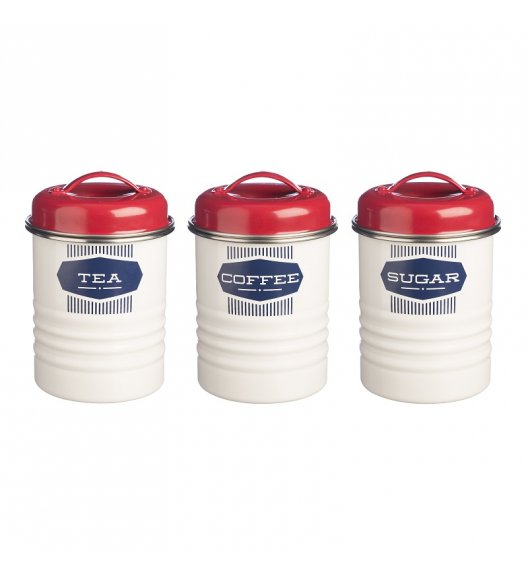 TYPHOON Zestaw 3 pojemników na kawę, herbatę i cukier BELMONT, białe / Btrzy