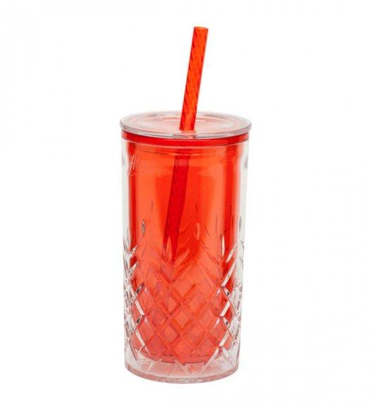 ALADDIN Kubek ze słomką do zimnych napojów CLASSIC 0,47 l czerwony / FreeForm