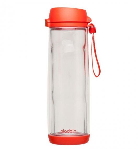 ALADDIN Szklana butelka na napoje GLASS LINED 0,53 l czerwona / FreeForm