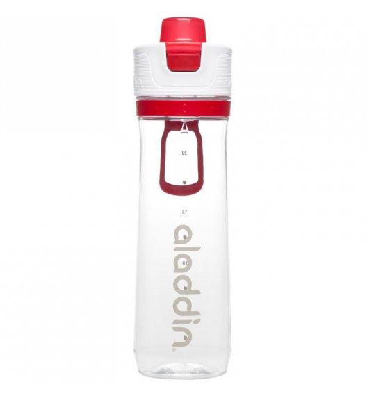 ALADDIN Butelka ze wskaźnikiem spożycia wody ACTIVE HYDRATION 0,8 l czerwona / FreeForm