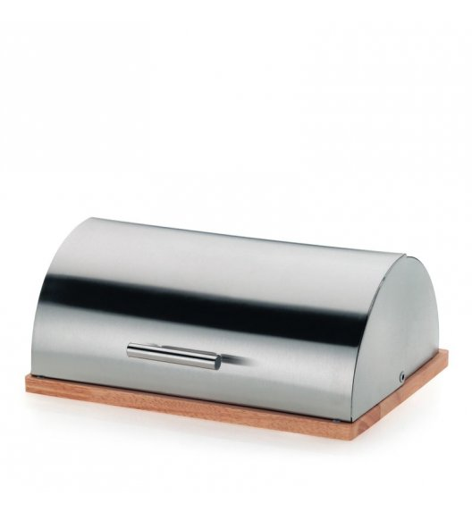 KELA Chlebak stalowy z drewnianą podstawą LUXE / FreeForm