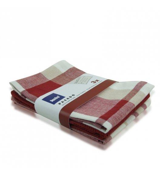 KELA Zestaw 3 ściereczek bawełnianych PASADO 65 x 45 cm, czerwone / FreeForm