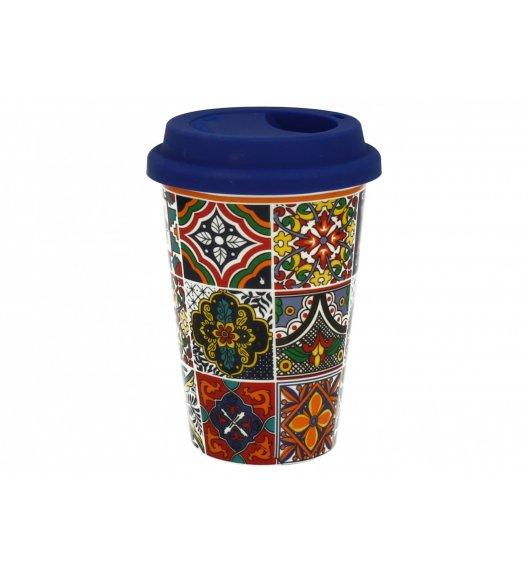 DUO RABAT Kubek z silikonową pokrywką 380 ml / Porcelana