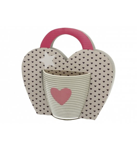 DUO PINK HEART Kubek 460 ml / Porcelana