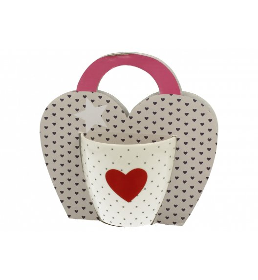 DUO RED HEART Kubek 460 ml / Porcelana