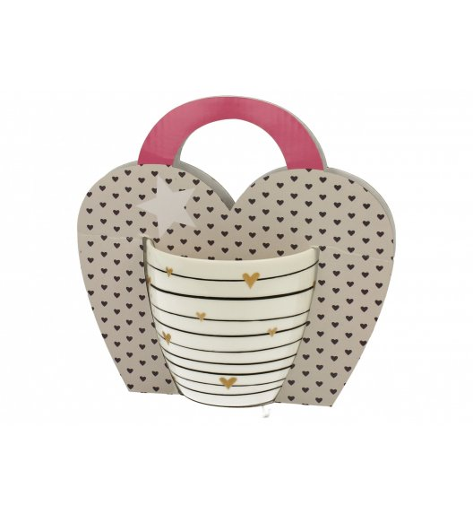 DUO GOLD HEARTS Kubek 460 ml / Porcelana