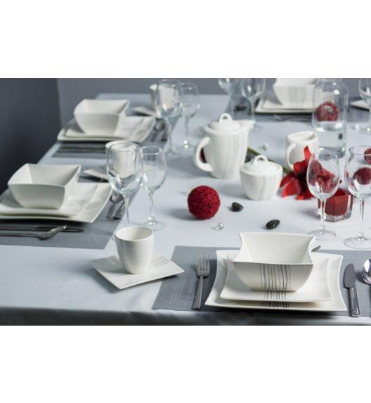 DUO SILVER LINE Serwis obiadowo-kawowy 66 el / 6 os / porcelana
