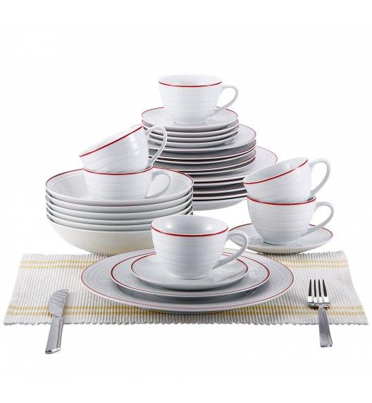 BLAUMANN Serwis obiadowo-kawowy 6 osób / 30 elementów Porcelana / BL-2039-3