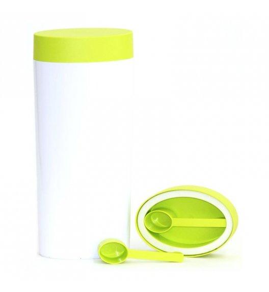 O'LaLa Pojemnik z miarką do przechowywania żywności / 2,0 L / biało-zielony  / FreeForm