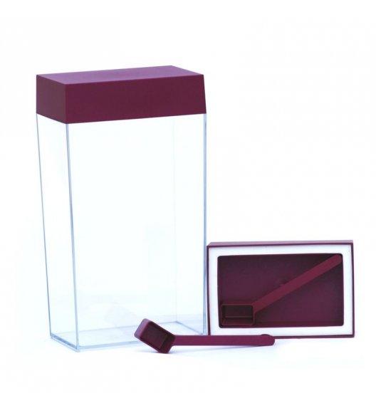 O'LaLa Przeźroczysty pojemnik prostokątny z miarką do przechowywania żywności / 4,0 L / rubinowy / FreeForm