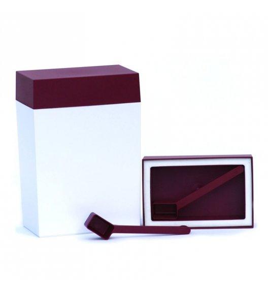 O'LaLa Pojemnik prostokątny z miarką do przechowywania żywności / 3,0 L / biało-rubinowy / FreeForm