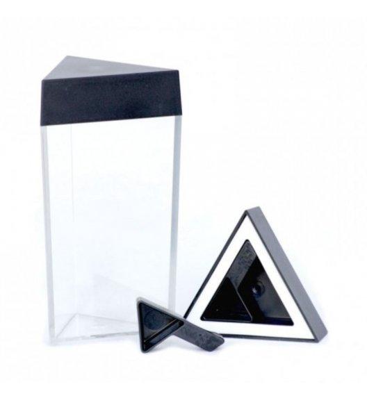 O'LaLa Przeźroczysty pojemnik trójkątny z miarką do przechowywania żywności / 1,25 L / czarny  / FreeForm