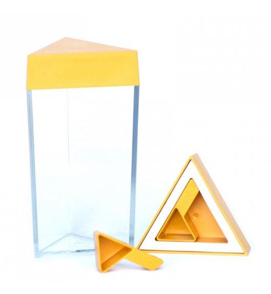 O'LaLa Przeźroczysty pojemnik trójkątny z miarką do przechowywania żywności / 0,3 L / żółty / FreeForm