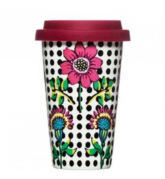SAGAFORM Porcelanowy kubek na kawę z pokrywką CAFE 0,25 l, kwiaty / FreeForm
