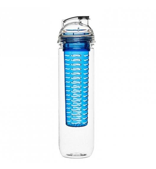 SAGAFORM Butelka z wkładem na lód lub owoce FRESH 0,8 l / niebieska / FreeForm