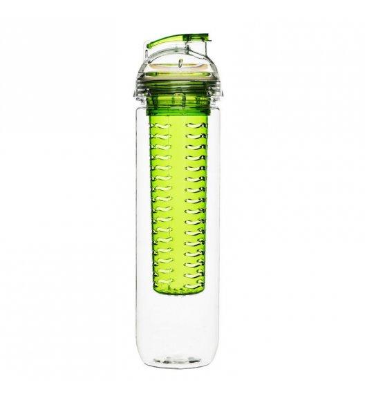 SAGAFORM Butelka z wkładem na lód lub owoce FRESH 0,8 l / zielona / FreeForm