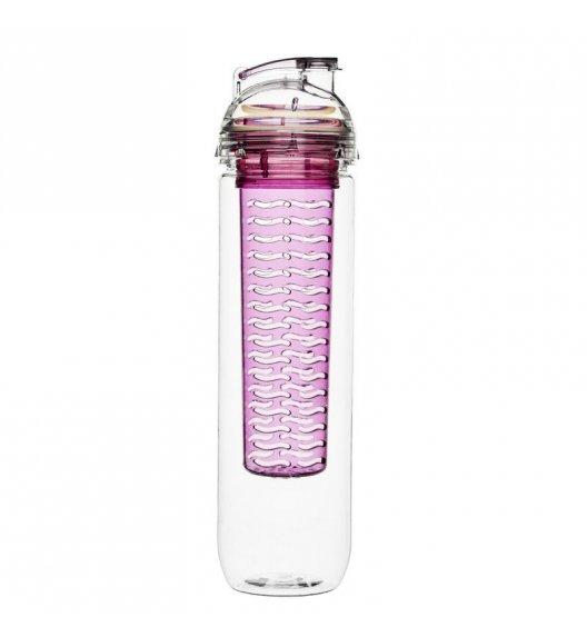 SAGAFORM Butelka z wkładem na lód lub owoce FRESH 0,8 l / różowa / FreeForm