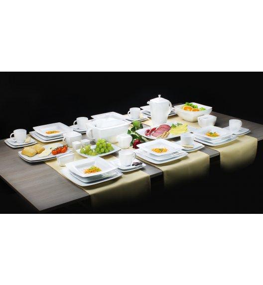 Serwis obiadowy i serwis kawowy Lubiana Victoria Biała 12 osób 118 elementów TG
