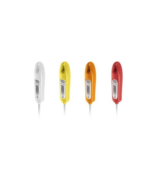 Cyfrowy termometr kuchenny Tescoma Presto w kolorze białym. ZOBACZ FILM.