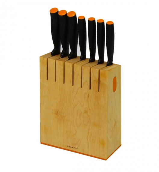 FISKARS Komplet 7 noży w drewnianym bloku 1014225