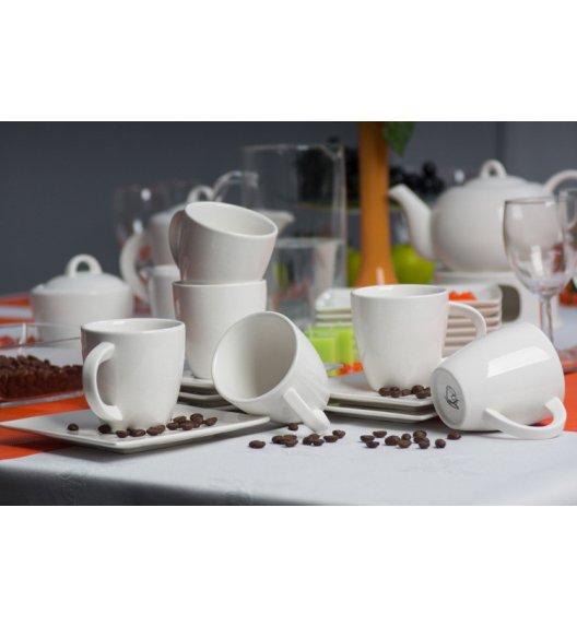 Serwis kawowy 6 os/15 el Duo WHITE wyroby porcelanowe.