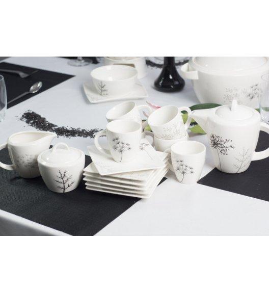 Serwis kawowy 6 os/15 el Duo FINO wyroby porcelanowe.