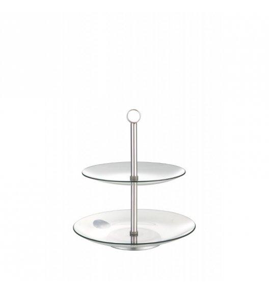 TADAR MILENA patera na tort / ciasto / muffiny szklana okrągła 2-poziomowa 20/25 cm.