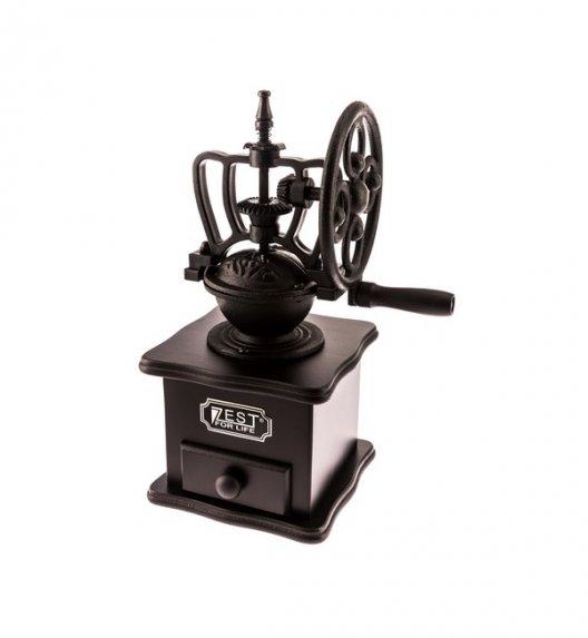 ZEST FOR LIFE MACHINA Drewniany młynek do kawy z żeliwnym mechanizmem mielącym.