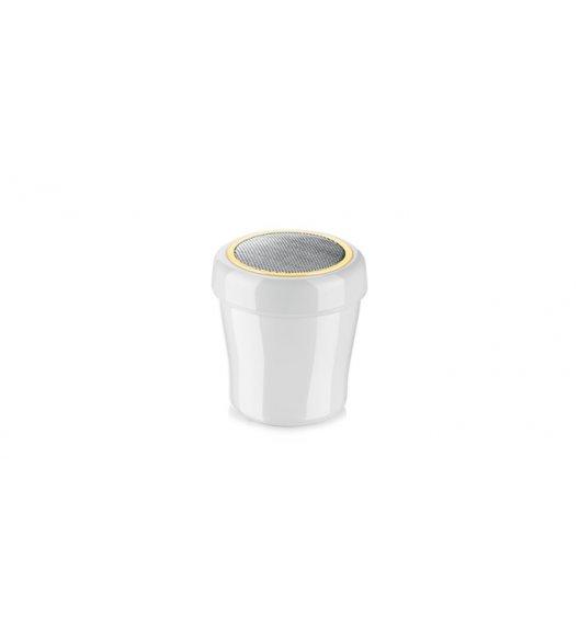TESCOMA DELICIA Cukiernica z wytrzymałego plastiku ze stalowym sitkiem 150 ml 630329 ZOBACZ FILM