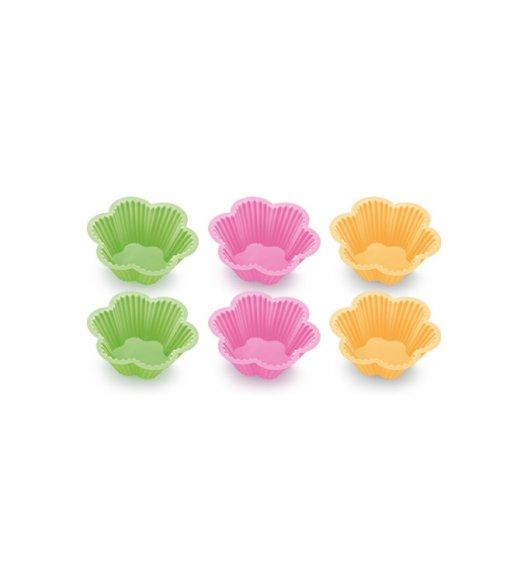 TESCOMA DELICIA Foremki silikonowe kolorowe kwiatki, 8 cm,  630650 ZOBACZ FILM