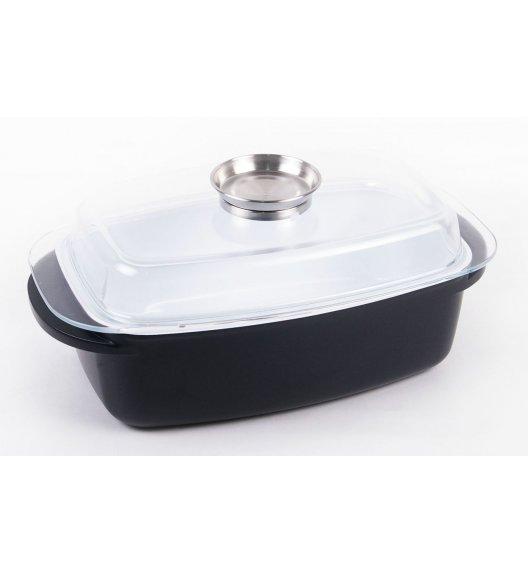 ODELO Brytfanna z powłoką ceramiczną 6,0 L + pokrywa z dozownikiem oleju, czarna. OD1054.