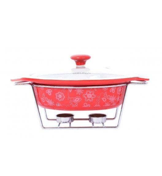 ODELO Ceramiczny podgrzewacz do potraw 1,3 L CZERWONY OD1147R