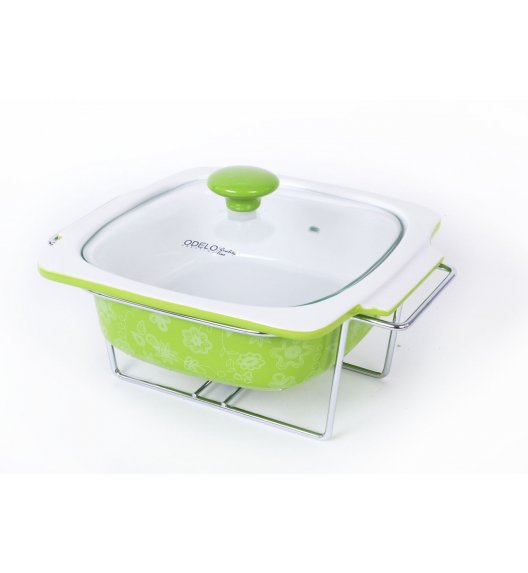 ODELO Ceramiczny podgrzewacz do potraw 1,3 L ZIELONY OD1145G