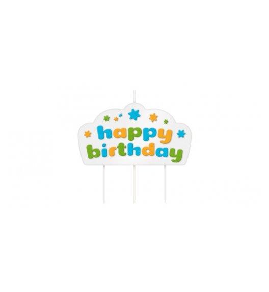 TESCOMA DELICIA Swieczka na tort  Happy Birthday NIEBIESKI  631002.30 zobacz film