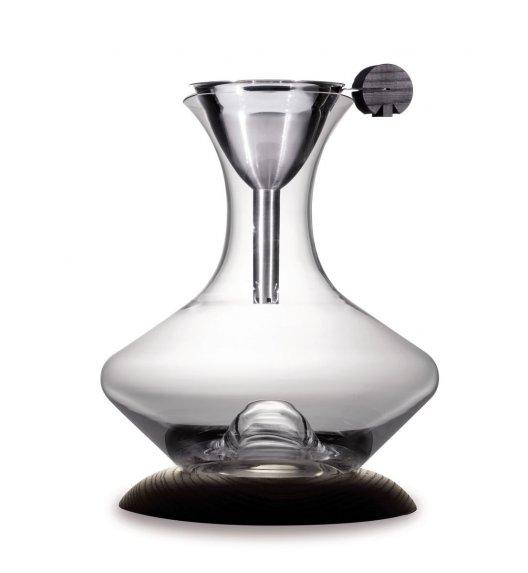 LEGNOART OPTIMUM Karafka do wina z lejkiem i jesionową podstawką. Btrzy.