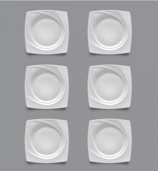 LUBIANA CELEBRATION Komplet Talerze deserowe 19 cm / 6 el / 6 os / porcelana