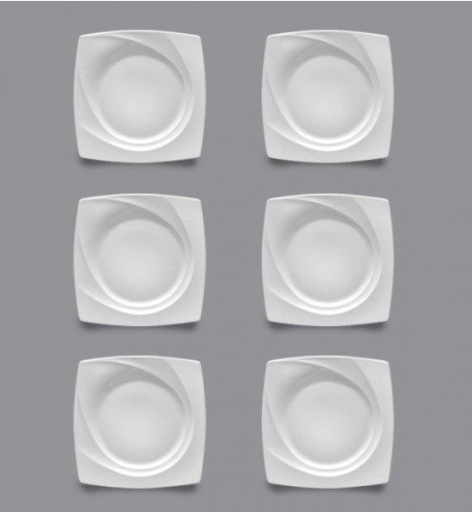 LUBIANA CELEBRATION Komplet Talerze deserowe 23 cm / 6 el / 6 os / porcelana