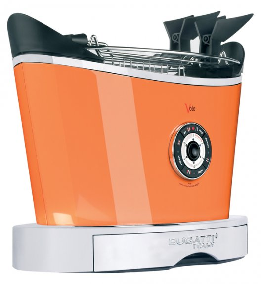 BUGATTI Toster VOLO pomarańczowy. Wysoka jakość - Italy design