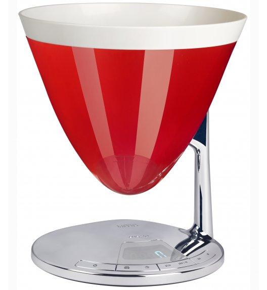 BUGATTI UMA elektroniczna waga - czerwona. Wysoka jakość - Italy design