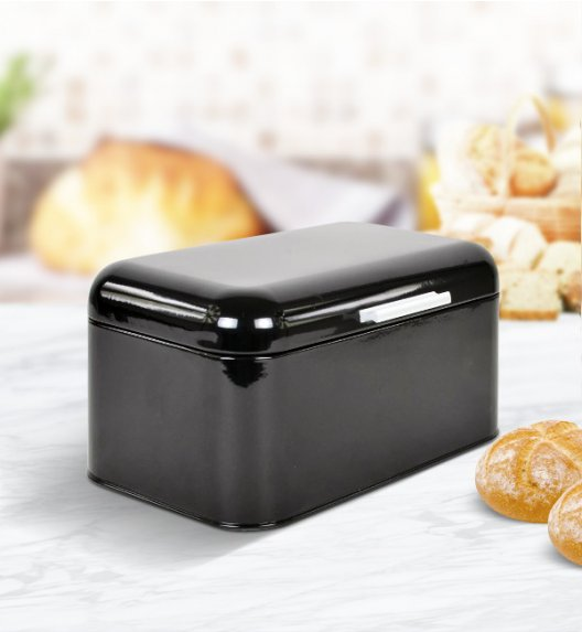 ODELO Czarny chlebak 30 x 20 cm / Stal nierdzewna / OD1268B