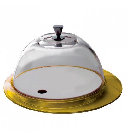 BUGATTI GLAMOUR Patera na ciasto 30 cm ze szklaną pokrywą ŻÓŁTY
